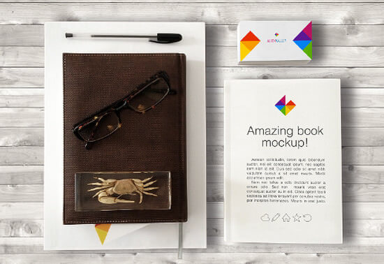 25-hero-mockups-november-2014_book-and-bisiness-card