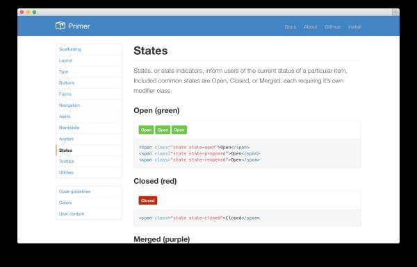 Primer : framework HTML5 / CSS3 open source de Github